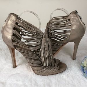 Dolce Vita Leather Carrie Knot Tassel Heels 8.5